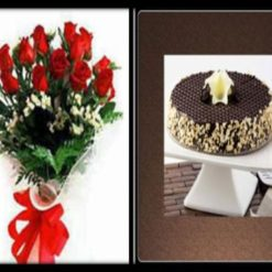 7124801700Brownie_cake_and_flowers