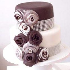 788356Brown_N_White_Designer_Cake