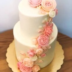two tier designer cake