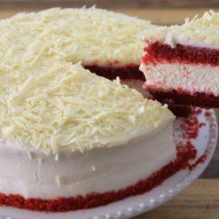 red velvet cheese cakee